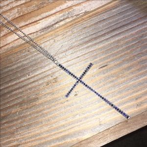 Black diamond cross and chain